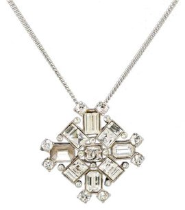 Chanel Chanel Silver Jeweled Pendant 00A Necklace