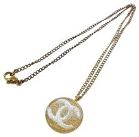 Chanel CHANEL Vintage CC Logos Medallion Gold Chain Necklace 03A France