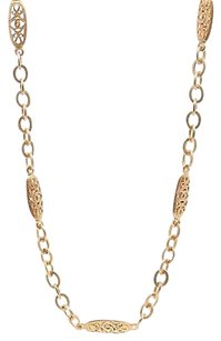 Chanel Chanel Vintage Gold-tone Cc Filigree Chain Link Necklace