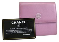 Chanel Chanel W hook Bifold Wallet Leather