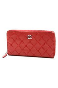 Chanel Chanel Coral Quilted Lambskin Cc Zip Wallet
