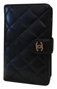 Chanel Chanel Wallet Black Quilted Lambskin Leather