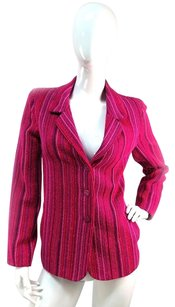 Chanel Chanel Wool Blend Melange Jacket Blazer Fuschia Excllent