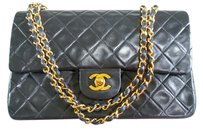 Chanel Classic Double Flap Medium Lambskin Leather Shoulder Bag