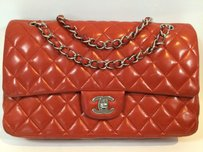 Chanel Quilted Lambskin Classic Flap With Box And Papers Shoulder Bag