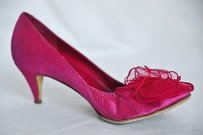 Chanel Hot Pink Camelia Pinks Pumps