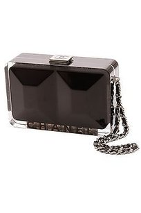 Chanel Black Lucite Black, clear Clutch