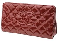 Chanel Quilted Dark red Clutch