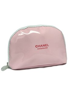Chanel Cosmetic Makeup Pink Beauty Pouch Maquillage Medium
