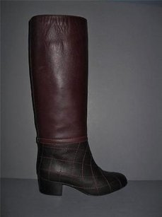 Chanel 13b Quilted Dark Brown Boots