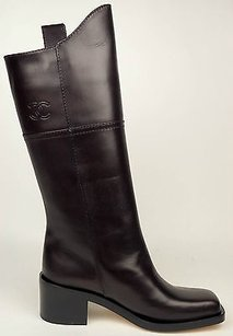 Chanel 14a Dark Leather Brown Boots