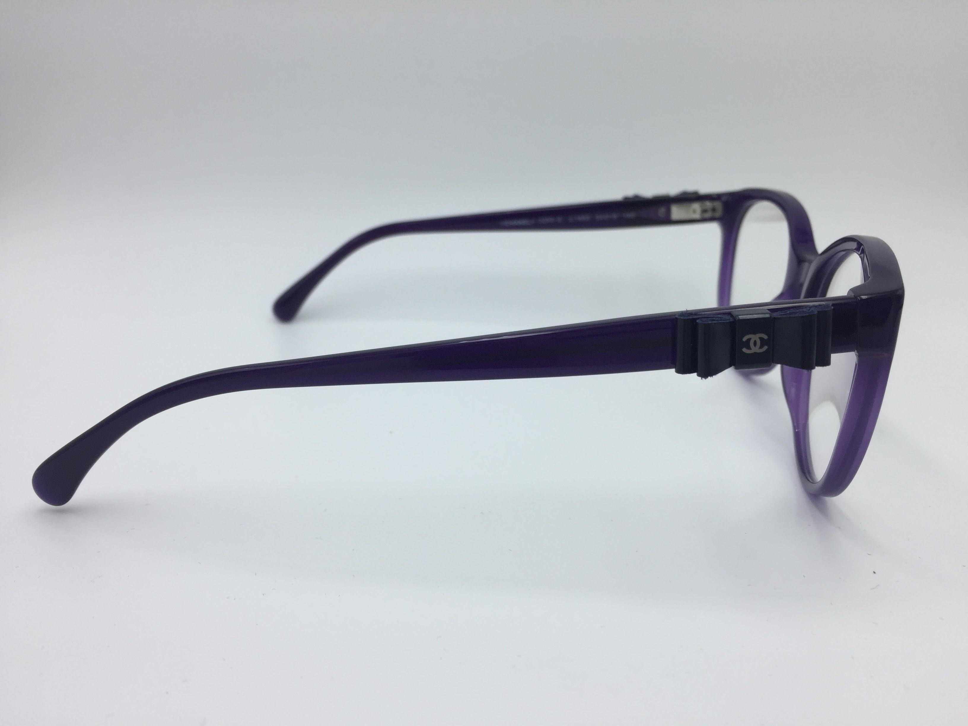chanel fashionable purple bow collection eyeglasses 3283 q