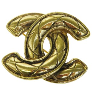 Chanel Chanel Gold CC logo Brooch