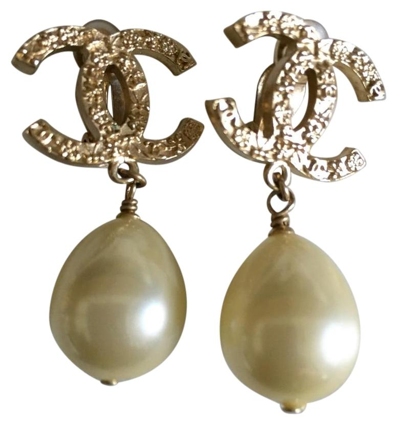 Saint Laurent Gilded Gold And Pearl Clip-on Earrings wouSjKIz3O