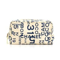Chanel Graffiti Cosmetic Case Pouch White Clutch