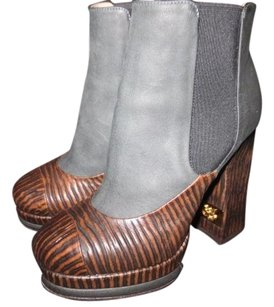 Chanel GRAY/BROWN Boots