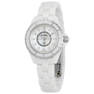 Chanel J12 Mother of Pearl White Ceramic Ladies Watch CNH2570