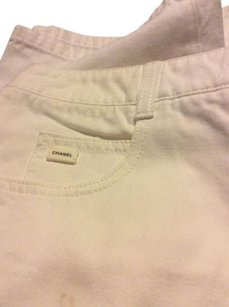 Chanel Khaki/Chino Pants Cream off white