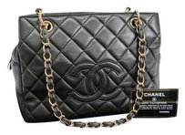 Chanel Lambskin Black Shoulder Bag