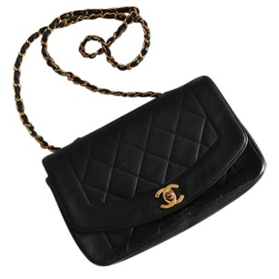 Chanel Lambskin Diana Flap Shoulder Bag
