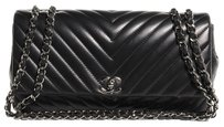 Chanel Lambskin Flap Chevron Shoulder Bag