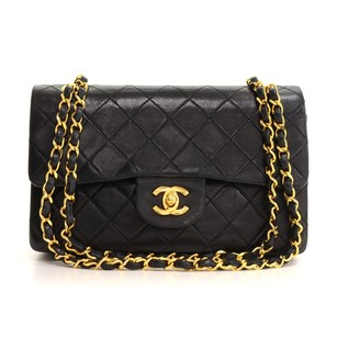 Chanel Leather Double Flap Shoulder Bag