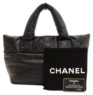 Chanel Leather Hand Black Tote