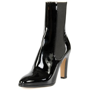 Chanel Leather Stretch Patent Black Boots