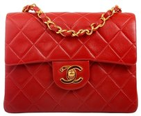 Chanel Mini Lambskin Classic Flap Gold Hardware Tomato Ghw Boy Vintage Small 2.55 Timeless Cross Body Bag
