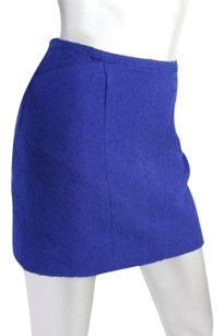 Chanel Womens Blue Textured Mini Skirt Blues
