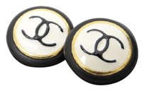 Chanel NEW Auth CHANEL Earrings CC logos