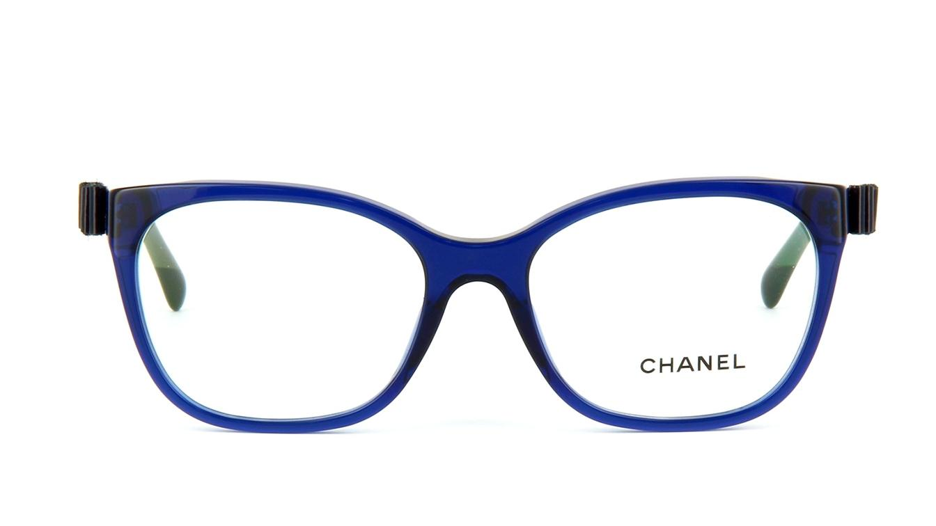 chanel patent leather bow charm cat eye eyeglasses ch5281