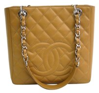 Chanel Petit Shopping Pst Tote in Beige