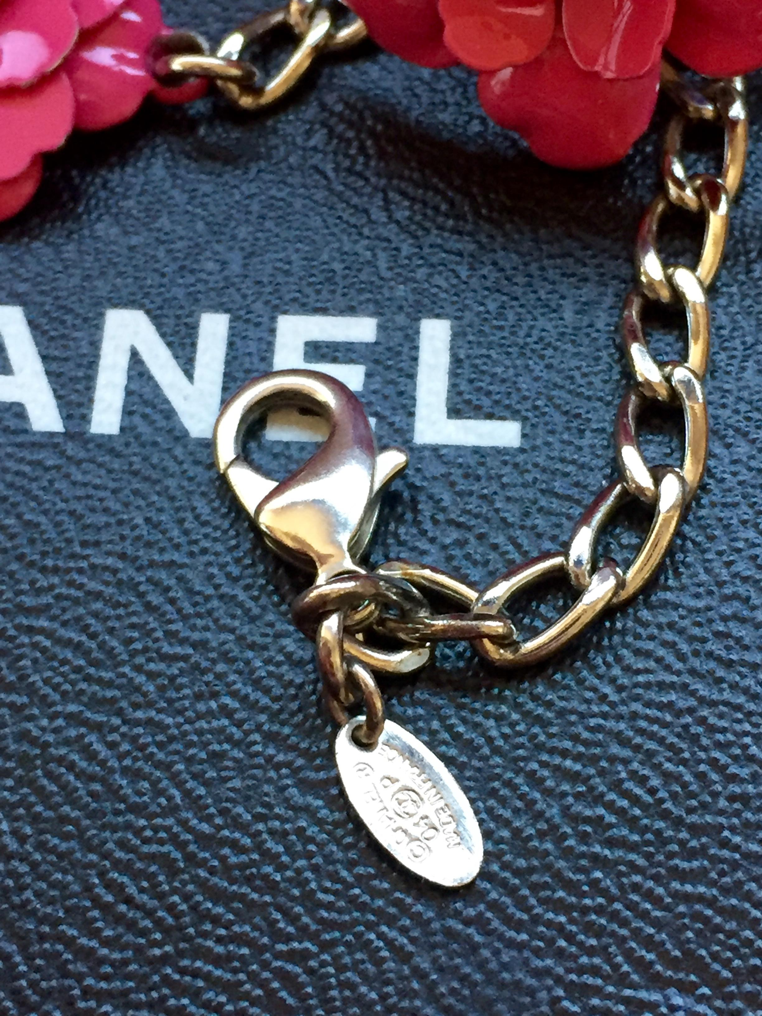 Chanel Pink and Silver Camilla Set Ring (7) Clip-on ...