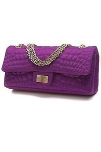 Chanel Satin Cocos Satchel in Purple