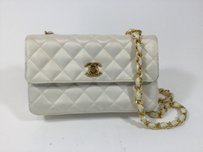 Chanel Satin Evening Quilted Shoulder Bag