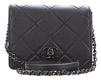 Chanel So Black Lambskin Shoulder Bag