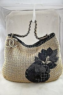 Chanel Coco Country Straw Shoulder Bag