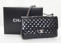 Chanel Patent Leather Classic Flap Quilted Handbag Shoulder Bag