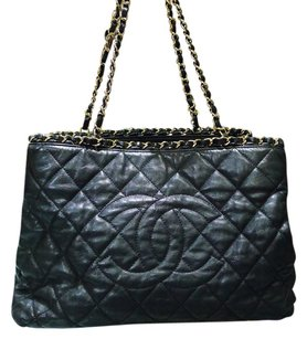 Chanel Quilted Leather Gold Chain Me Tote Shoulder Bag