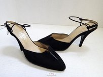 Chanel France Canvas Black Pumps