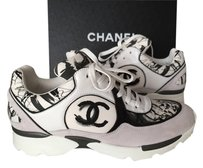 Chanel Sneakers WHITE/GRAY/BLACK Athletic