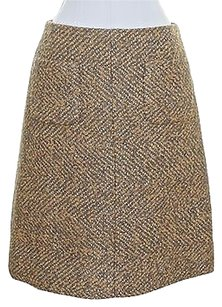Chanel Straight Pencil Mini Skirt Grey, Gold