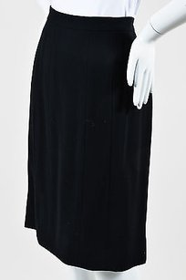 Chanel 98p Wool Seamed Skirt Black