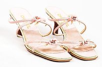 Chanel Cream Leather Pink Sandals