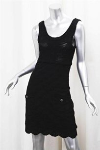 Chanel Womens Stretch Sleeveless Above Knee Pencil 3424 Dress