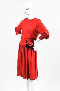 Chanel short dress Red Boutique Bright on Tradesy