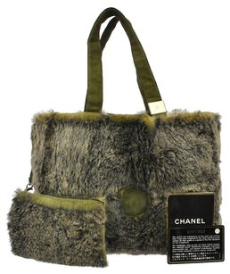 Chanel Tote in Gray, Green