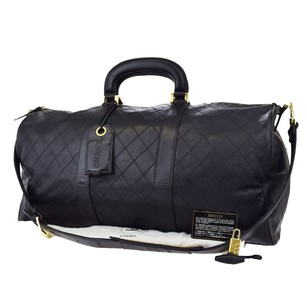 Chanel Vintage Quilted Leather Travel Bag
