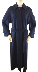 Chanel Wool Blue Trench Trench Coat